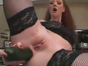 Cucumber best porn video. Girl masturbates cucumber. Big cucumber in a small asshole.